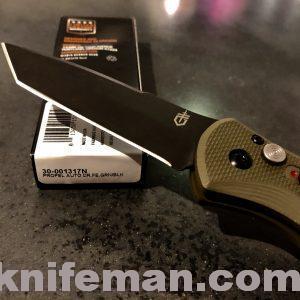 GERBER Propel Auto; Olive Drab Green; Fine Edge; Black Oxide Blade; 30-001317