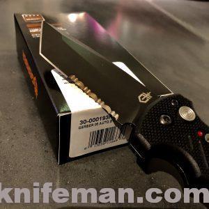 GERBER 06 Auto – Serrated Tanto Blade; G-10 Handles 30-000193